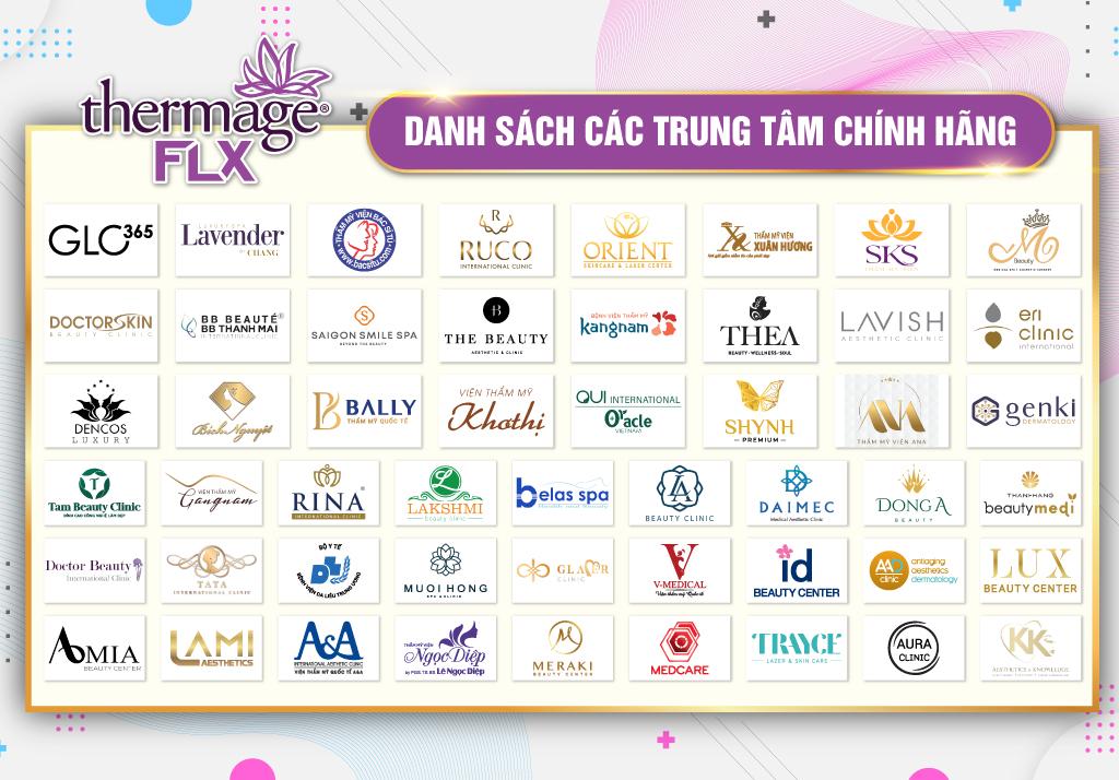 Banner các trung tâm chính hãng Thermage Việt Nam